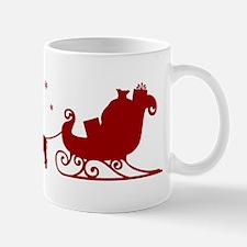 Bulldog Christmas Sleigh Mug