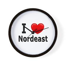 I Love Nordeast Wall Clock