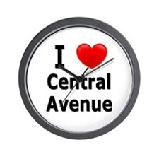 I Love Central Avenue Wall Clock