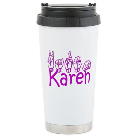 Karen Stainless Steel Travel Mug