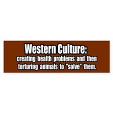 Animal Testing Vegan Animal Rights Bumper Car Sticker