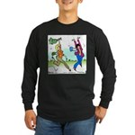 Susan and Maeve Dancing Long Sleeve Dark T-Shirt