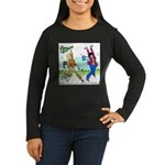 Susan and Maeve Dancing Women's Long Sleeve Dark T