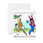 Susan and Maeve Dancing Greeting Card