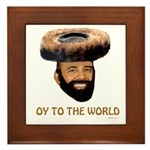 Oy To The World Funny Jewish Framed Tile
