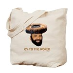 Oy To The World Funny Jewish Tote Bag