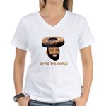 Oy To The World Funny Jewish Women's V-Neck T-Shir