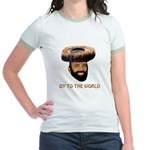 Oy To The World Funny Jewish Jr. Ringer T-Shirt