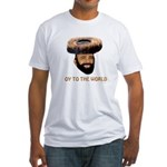 Oy To The World Funny Jewish Fitted T-Shirt