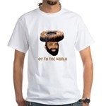 Oy To The World Funny Jewish White T-Shirt