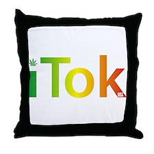 iTok logo - Rasta style Throw Pillow