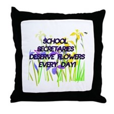 Cute Secretary day Throw Pillow