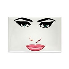 The female face Rectangle Magnet