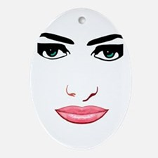 The female face Oval Ornament