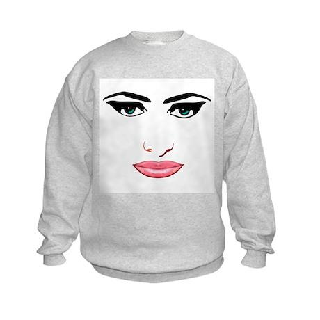 The female face Kids Sweatshirt