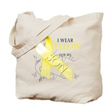 I Wear Yellow for my Son Tote Bag