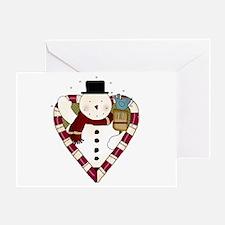 Snowman Heart Greeting Card