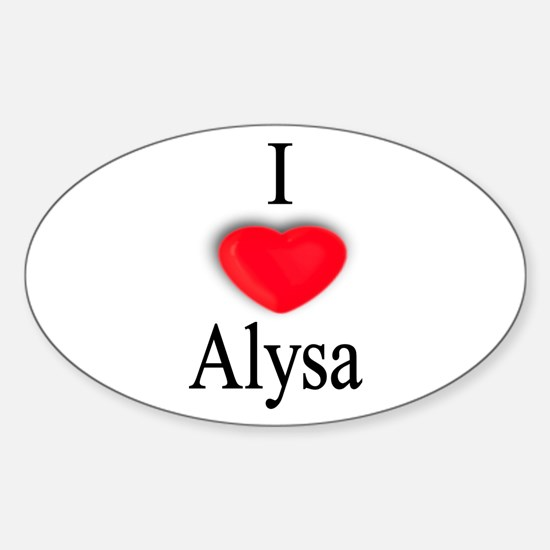 Alysa Oval Decal