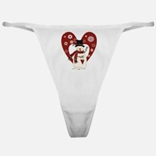 Snowman and Heart Classic Thong
