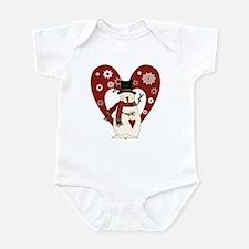 Snowman and Heart Infant Bodysuit