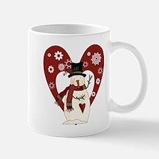 Snowman and Heart Mug
