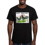 Got Polish? Men's Fitted T-Shirt (dark)