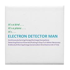 Electron Detector Man Tile Coaster