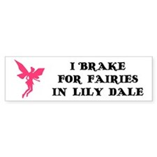 I brake for fairies Bumper Car Sticker