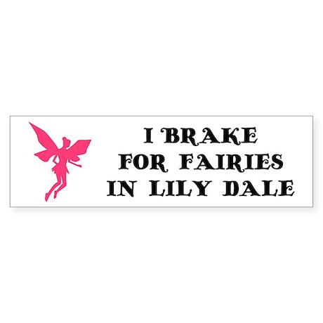 I brake for fairies Bumper Sticker