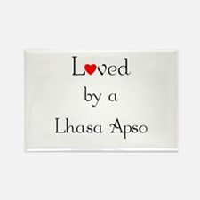 Loved by a Lhasa Apso Rectangle Magnet