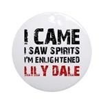LILY DALE NEW YORK Ornament (Round)