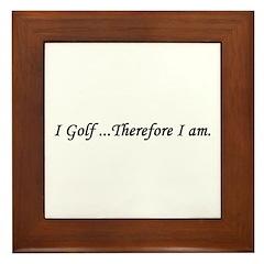 Golf gift Framed Tile