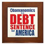 Obamanomics Framed Tile