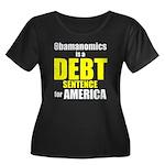Obamanomics Women's Plus Size Scoop Neck Dark T-Sh