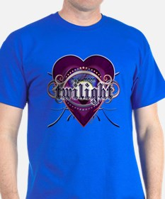 New Moon Mystic Purple Heart T-Shirt