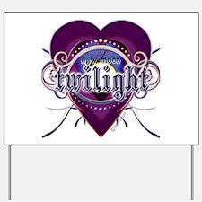 New Moon Mystic Purple Heart Yard Sign