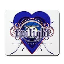 New Moon Mystic Indigo Heart Mousepad