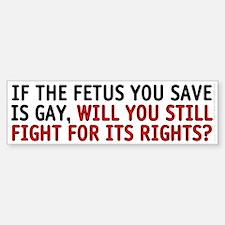 If the fetus is gay - Bumper Bumper Sticker