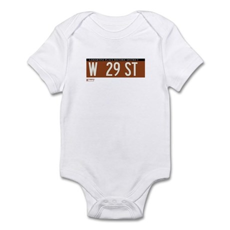 West 29th Street in NY Infant Bodysuit