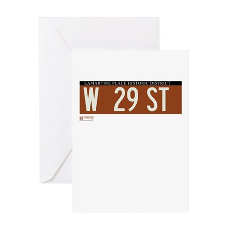 West 29th Street in NY Greeting Card