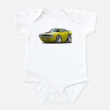 1971-72 Roadrunner Yellow Car Infant Bodysuit