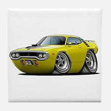 1971-72 Roadrunner Yellow Car Tile Coaster