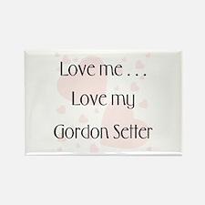 Love Me...Love My Gordon Setter Rectangle Magnet (
