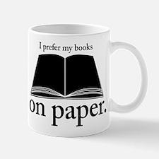 Books Belong on Paper Mug