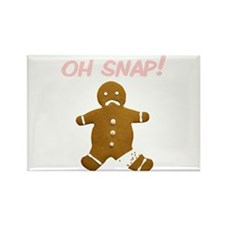 Oh Snap Gingerbread Man Rectangle Magnet