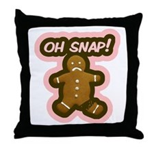 Oh Snap Gingerbread Man Throw Pillow