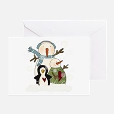 Snow Friends Greeting Card