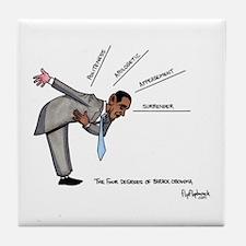 The Four Degrees of Barack Ob Tile Coaster