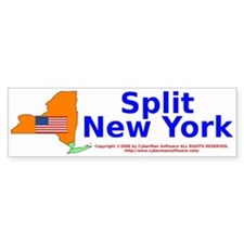 Split New York Bumper Bumper Sticker