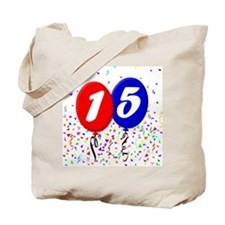15th Birthday Tote Bag